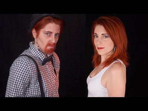 Maquillage femme en homme // Look Hipster
