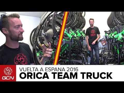Orica-BikeExchange Mechanics' Truck Tour | Vuelta A España 2016