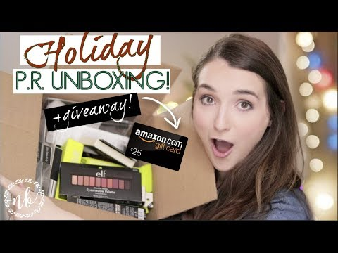 FUN PR UNBOXING + GIVEAWAY!! | Holiday Edition | Natalie Bennett