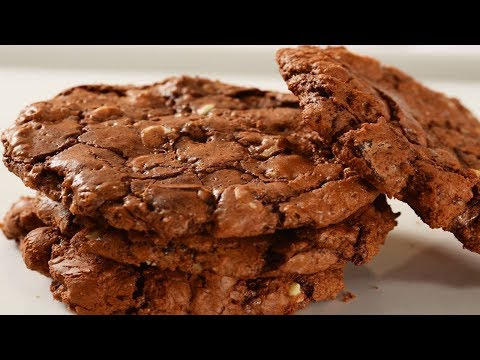 Chocolate Fudge Cookies Recipe Demonstration - Joyofbaking.com