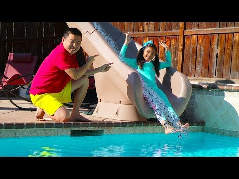 Wendy Pretend Play with Giant Water Slide & Inflatable Swimming Pool Kid Toys for Girls