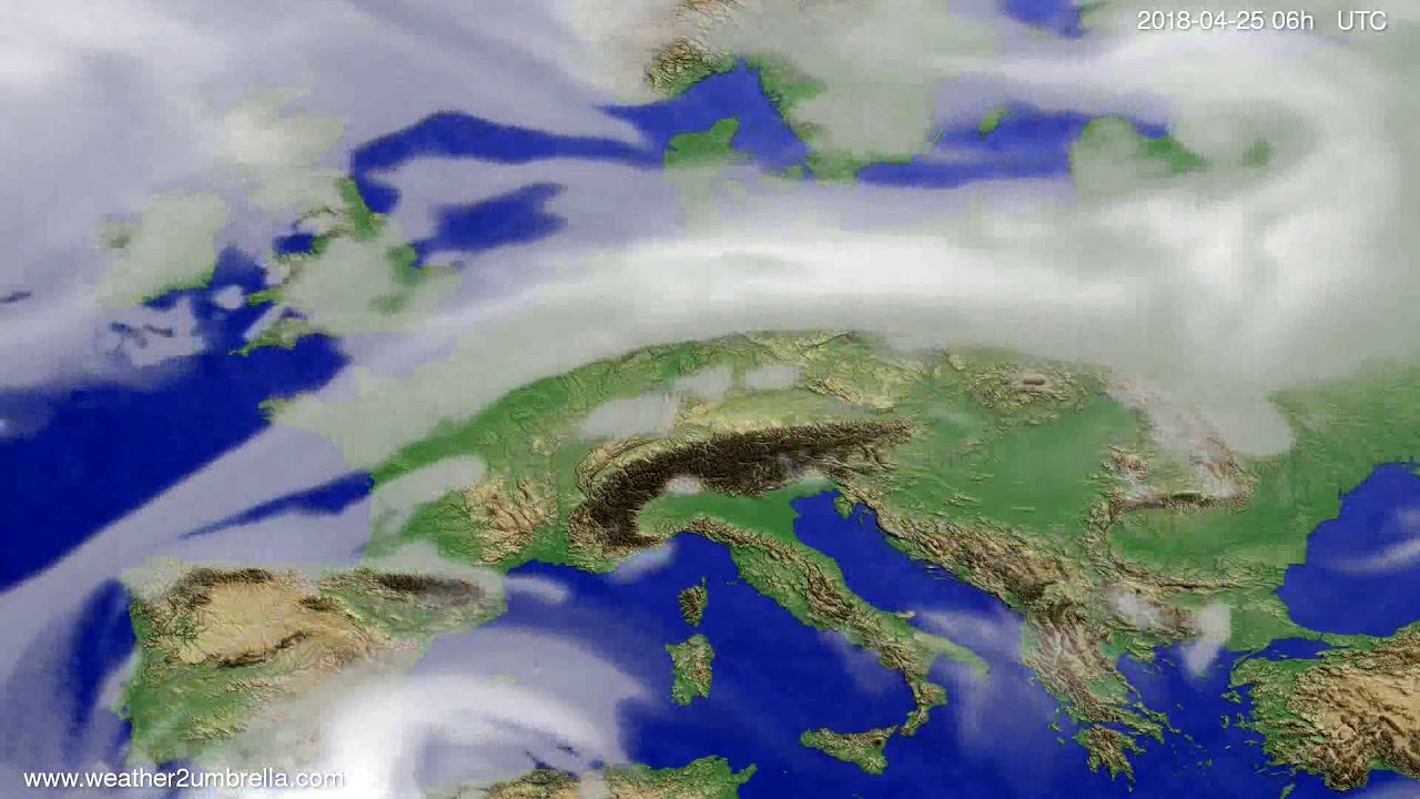 Cloud forecast Europe 2018-04-22