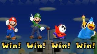 Mario Party 9 - Step It Up - Mario vs Luigi, Shy Guy, Magikoopa Master CPU | Cartoons Mee