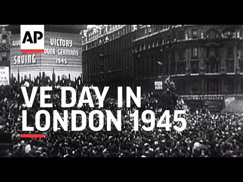 V E Day in London - 1945