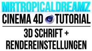 Hier zeige ich euch wie Ihr mit Hilfe von Cinema 4D und Photoshop eine super 3D Schrift hinbekommt, die man auch transformieren und beliebig verändern kann. Schöne Schatten und Lichteffekte sind ebenfalls möglich. Hier wird euch bis in das genauste Details die nötigen Rendereinstellungen erklärt. Viel Spaß damit.