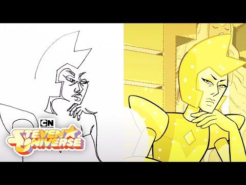 Steven Universe  Yellow Diamond Contour Drawing  Cartoon Network  LET'S CREATE
