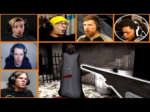 Let's Players Reaction To Shooting Granny With The Shotgun | Granny