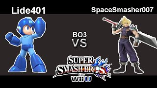 Lide401 (Megaman) Vs. SpaceSmasher007 (Cloud) Smash 4 Wii U BO3