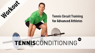 http://www.TennisConditioning.TV The tennis circuit training for advanced athletes consists of 6 resistance training exercises to improve the athlete's body composition, stability, coordination and core strength. Get more information and download the program: http://www.tennis-conditioning.com/2016/08/tennis-circuit-training/ Like the shirt? Get it at http://www.StyleConditioning.com Connect with Philipp Halfmann: http://www.PhilippHalfmann.comCONNECT WITH TENNIS CONDITIONING TV- Visit our BLOG: http://www.tennis-conditioning.com- Subscribe to Tennis Conditioning TV: http://www.youtube.com/subscription_center?add_user=TennisConditioningTV- Like us on FACEBOOK: https://www.facebook.com/TennisConditioningTV- Follow us on TWITTER : https://twitter.com/TennisCondiTV- Website: http://www.TennisConditioning.TV- YouTube Channel Page: https://www.youtube.com/TennisConditioningTV- Google+: http://www.google.com/+TennisconditioningTv_Page- Pinterest: http://www.pinterest.com/tennisconditvABOUT USwww.Tennis-Conditioning.tv provides coaches and athletes with educational content, blog posts, news articles, videos, pictures and images. We are passionate about delivering thought provoking tennis-specific news and teaching people how to do something or explaining to them why something is beneficial to them because we believe in the notion that knowledge is power. We don't like to advocate something we don't believe in. We desire to share our thoughts, it's not illegal yet, and hence enable a worldwide audience to benefit as well.Featured Tennis Conditioning TV episodes include:- Professional Tennis Training Session with Alexander Ritschard (http://youtu.be/9EnfIt739pU)- How Flexibility Impacts OnCourt Performance (http://youtu.be/HFTfuzOBKnI)- Why Core Training for Tennis Players is Important (http://youtu.be/6HHGX62GVcw)- Why Jogging is a Waste of Time for Tennis Conditioning (http://youtu.be/Sxb6zuWoCN4)- The Purpose of Athletic Conditioning (http://youtu.be/lSXpMsfkULE)- How to 