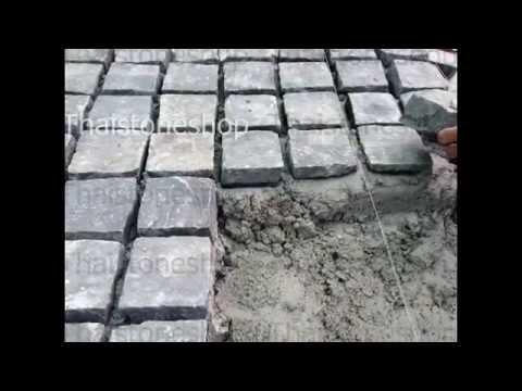 หินลูกเต๋า ,หิน cobble ,หินปูพื้น ปูถนน