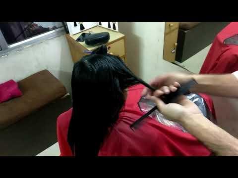 Hair cutting - Emo Letist Hair cut  2018 long lear cut with Blou dray xposssaloon