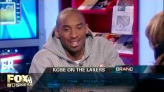 Fox Business reporter Alexis Glick flirting with Kobe during an interview 2008, part 2 of 2