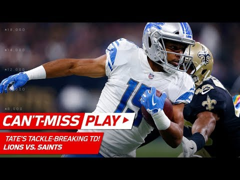 Video: Golden Tate Breaks Big Tackles & Flips into the End Zone for a TD! | Can't-Miss Play | NFL Wk 6