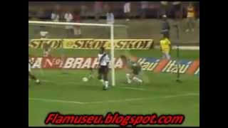 Esse foi o primeiro jogo que vi na arquibancada do Maracanã e justamente contra o maior rival, o Vasco. Vencemos por 4 x 2, goleada, estreia com o pé direito!