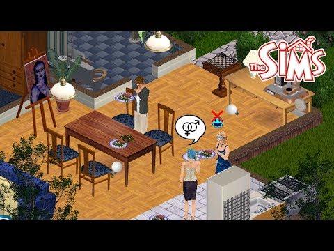 Frases de amigos - COMPRANDO AMIGOS COM COMIDA  The Sims 1 #16