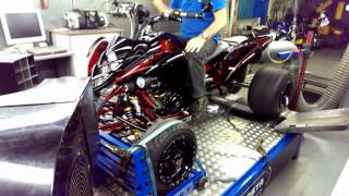 9. 78HP stock stroke Yamaha Raptor 700 734 dyno run sept. 2013 @ Hilltech 1