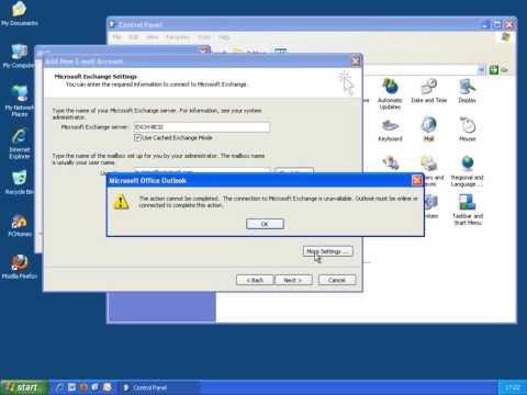 Setting up exchange on Outlook 2007