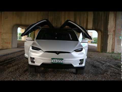 Tesla Model X P100D试驾外观、内装配备篇