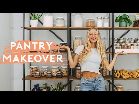 PANTRY ORGANIZATION | Healthy Food Pantry Tour + Makeover!