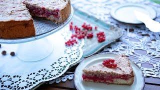 Gâteau meringué aux gadelles rouges