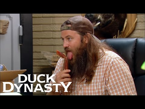 Duck Dynasty: Willie Won't Share His Exotic Beef Jerky (Season 4 Flashback) | Duck Dynasty