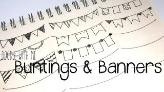 Draw Buntings and Banners for your planner / bullet journal | Doodle with Me