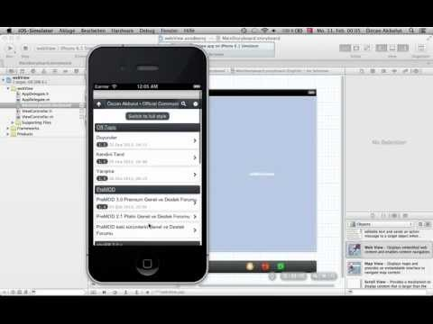 Xcode Tutorial: webView App (MainStoryboard) Part 1