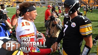 Patrick Mahomes benefiting from sitting for year I Pro Football Talk I NBC Sports