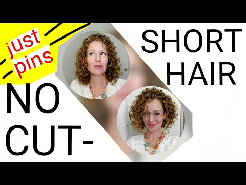 Short hair styles - Short Haircut/Layered Look with ONLY Bobby Pins!!