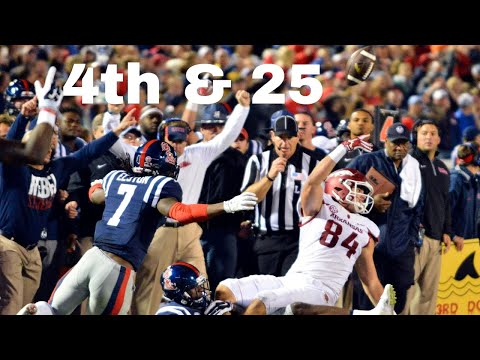 Longest 4th Down Conversions in College Football History
