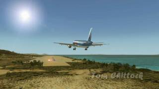 Thomson Airlines A320 Landing At Rhodes Diagoras Airport, Greece