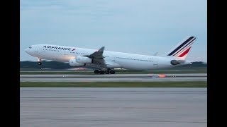 Air France A340 take off, DTW