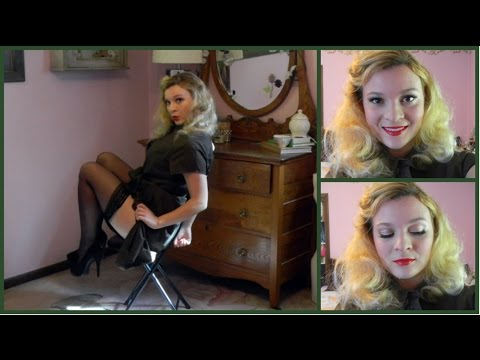 Army/Military Pin Up Girl Halloween Costume Tutorial | Retro Hair & Makeup!
