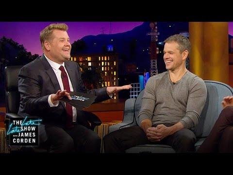 Matt Damon a James Corden: Ztracení bratři?