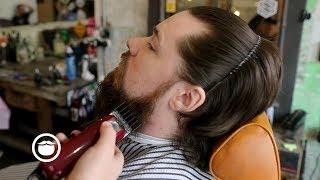Big Time YouTuber Gets First Barbershop Beard Trim