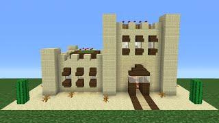 Minecraft Tutorial: How To Make A Desert House - 2 (Including Interior/Exterior)