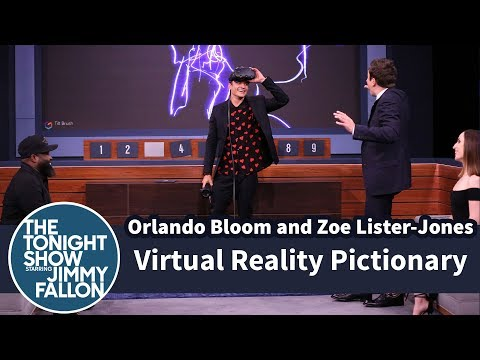 VR Pictionary with Orlando Bloom and Zoe