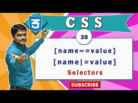 CSS video tutorial - 25 - CSS Attribute Selector (Square Brackets) - Part 4 (видео)