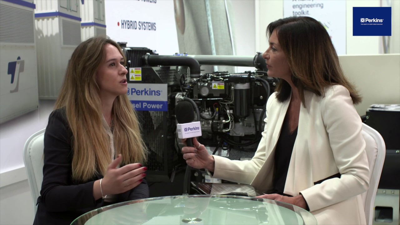 Ms Ebru Ata Tuncer from Teksan talks about their Perkins engines range at bauma Munich 2019