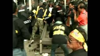 Violent Scenes In Thai Capital