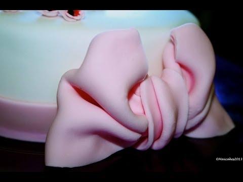 nastro torta (fiocco pasta di zucchero) - ricetta - festa della mamma