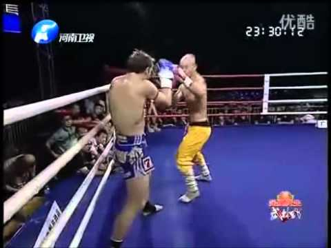 shaolin munk - Yi Long Vs. Brad Riddell Rematch. Held on 23/6/2012 in Foshan, China CI-K Title Fight Fight was decided by majority decision 30-30, 30-29, 30-29.