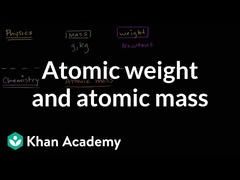 Atomic Weight And Atomic Mass Video Khan Academy
