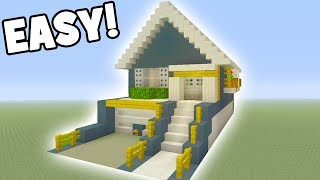 Minecraft Tutorial: How To Make A Easy Suburban House #14 (Suburban House Tutorial)