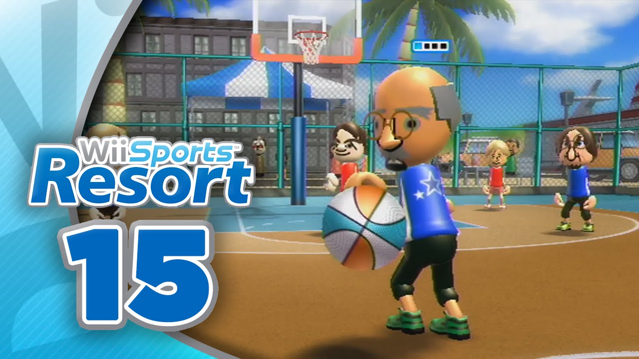 Wii Sports Resort: Part 15 | Basketball – Pickup Game (4-Player)