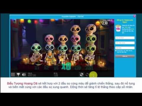 HappyLuke.com | Cách chơi Slot Game Đầu Sọ Esqueleto Explosivo