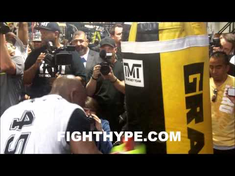 media - FightHype.com was on hand at the Mayweather Boxing Club in Las Vegas, Nevada where undefeated pound-for-pound king Floyd