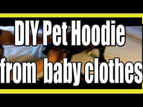 Make a cute Pet Hoodie from Upcycled Baby Clothes!