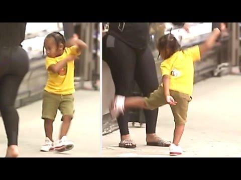 King Cairo Puts On Karate/Dance Display As Blac Chyna Cheers Him On