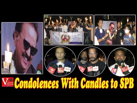 Condolences with Candles to SP BalaSubrahmanyam Vizag Events & Artists at Beach Road in Visakhapatnam,Vizagvision